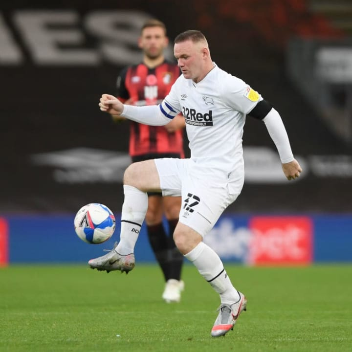 Rooney played 30 Championship games for Derby
