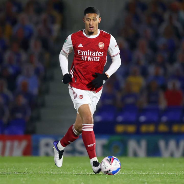 Saliba is yet to play for Arsenal's senior side