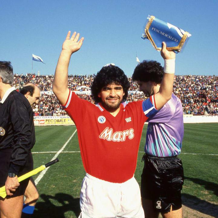 Diego Maradona steered Napoli to their last Serie A title