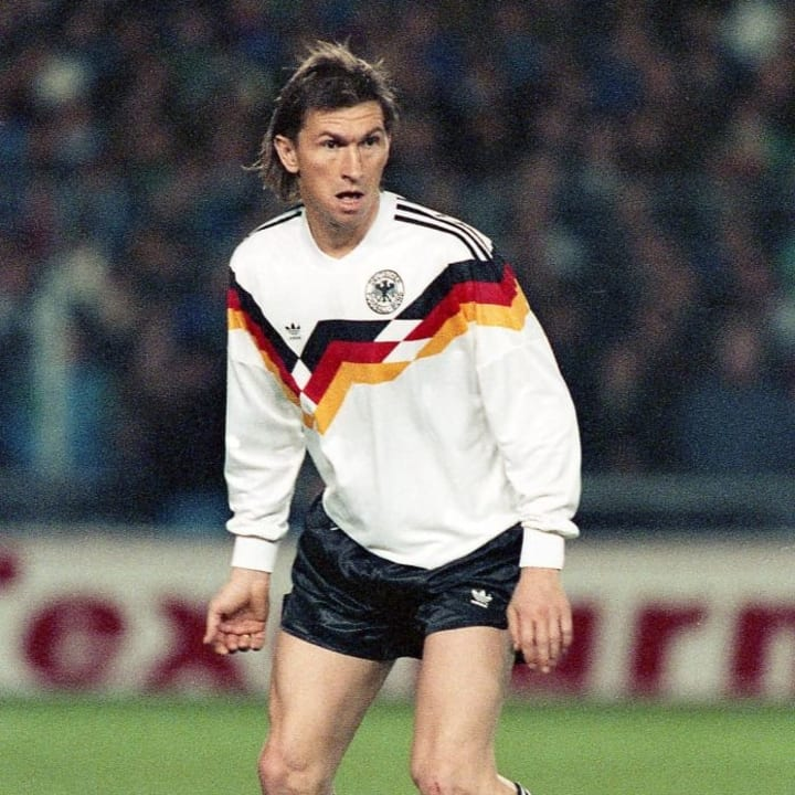 Klaus Augenthaler in West Germany's iconic shirt