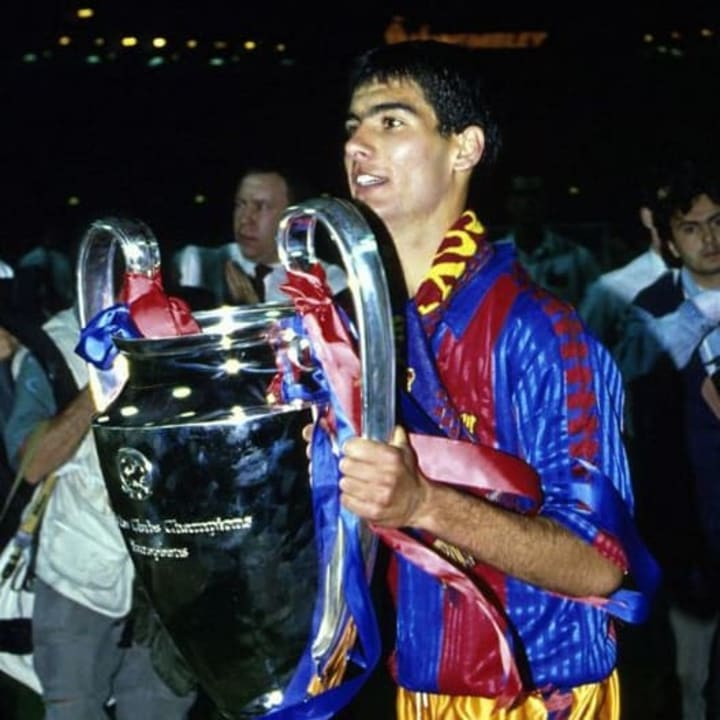 Pep Guardiola won the European Cup and the Olympics in the same year