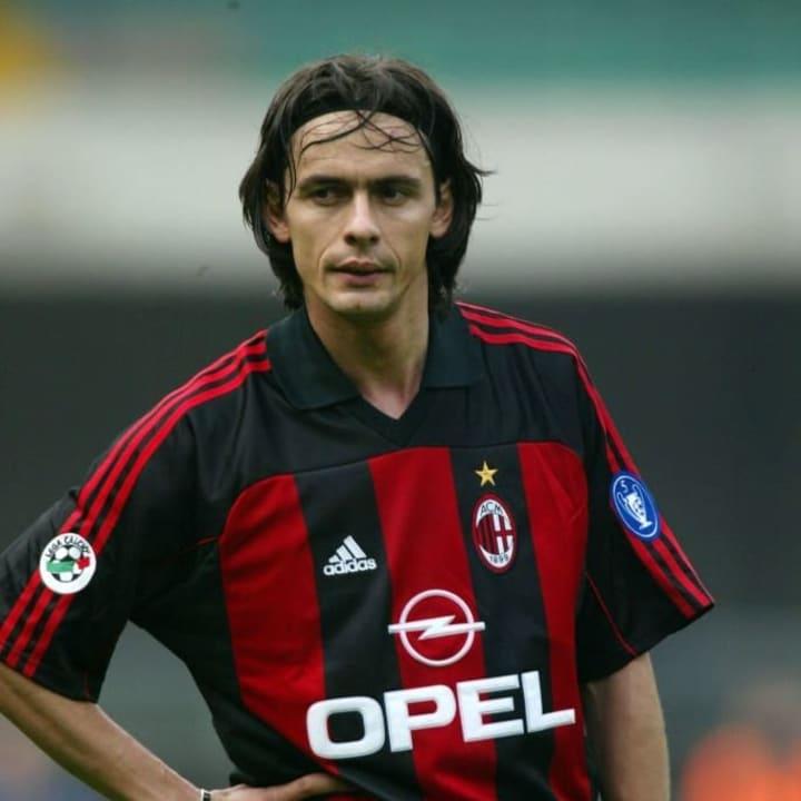 Inzaghi era conhecido pelas comemorações exageradas.