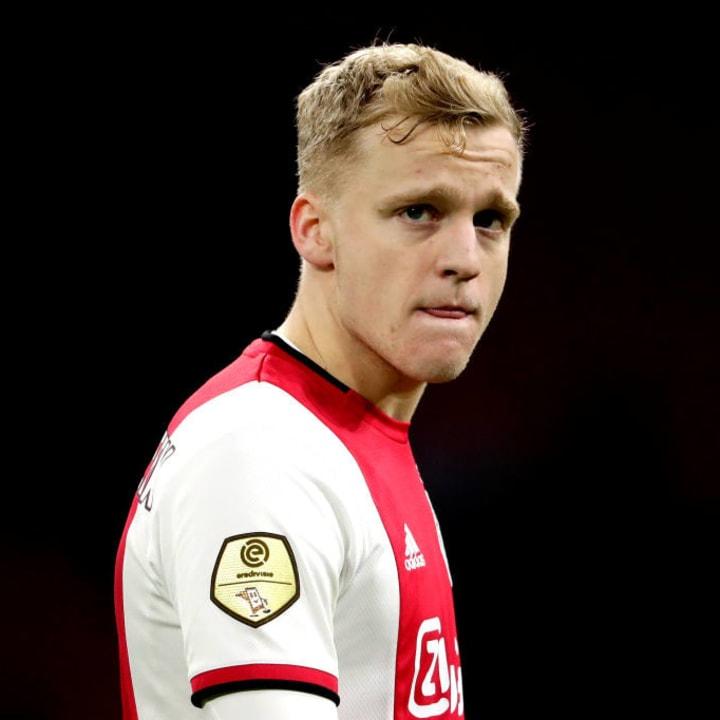 Donny van de Beek has played in various midfield roles for Ajax.