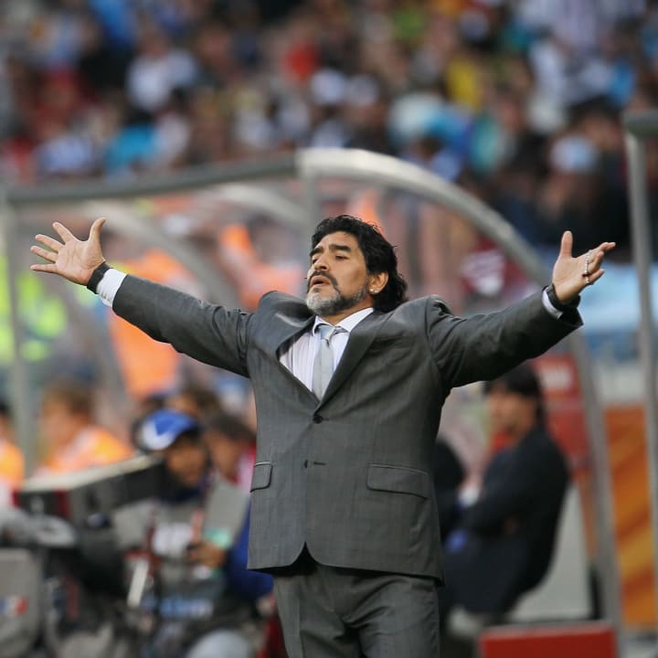 Diego Maradona during his time as Argentina boss