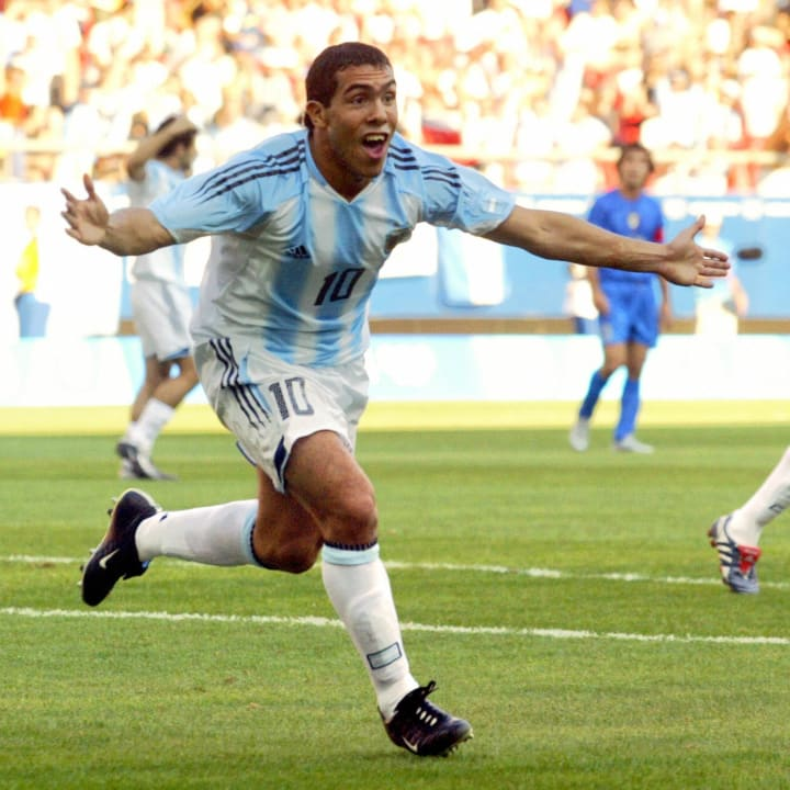 Carlos Tevez was top scorer at the 2004 Olympics