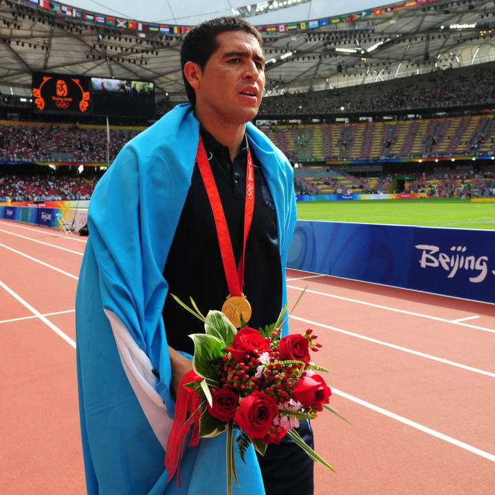 Juan Roman Riquelme was Argentina captain in 2008