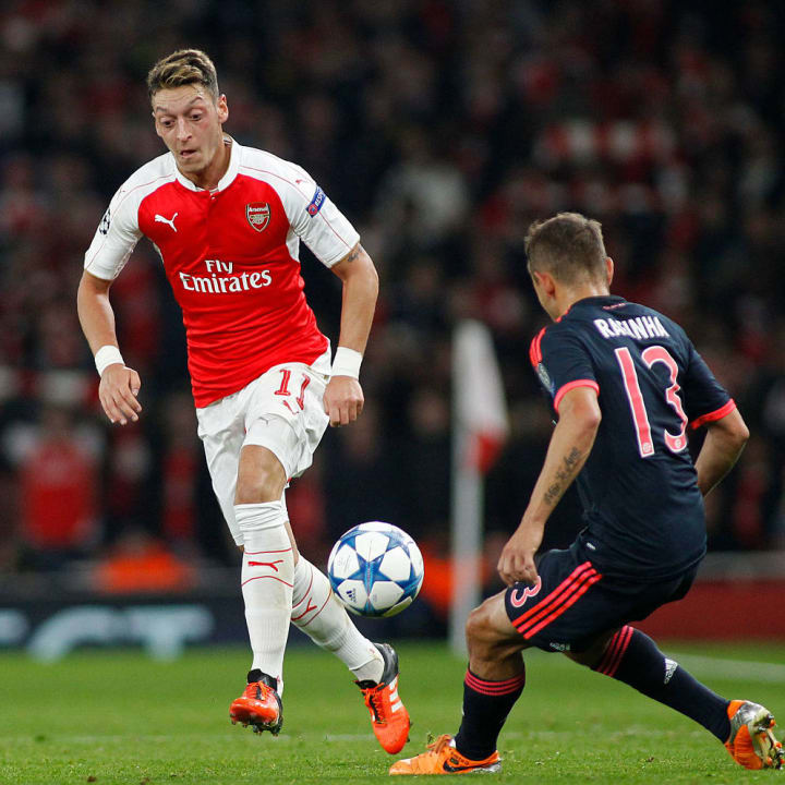 Ozil was instrumental in Arsenal's win over Bayern in 2015