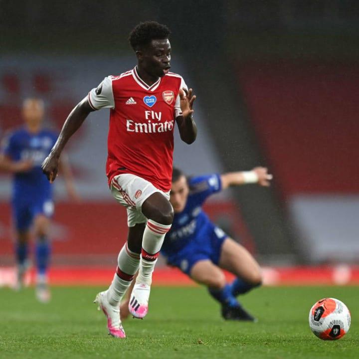 Bukayo Saka has been a shining light in Arsenal's mixed season