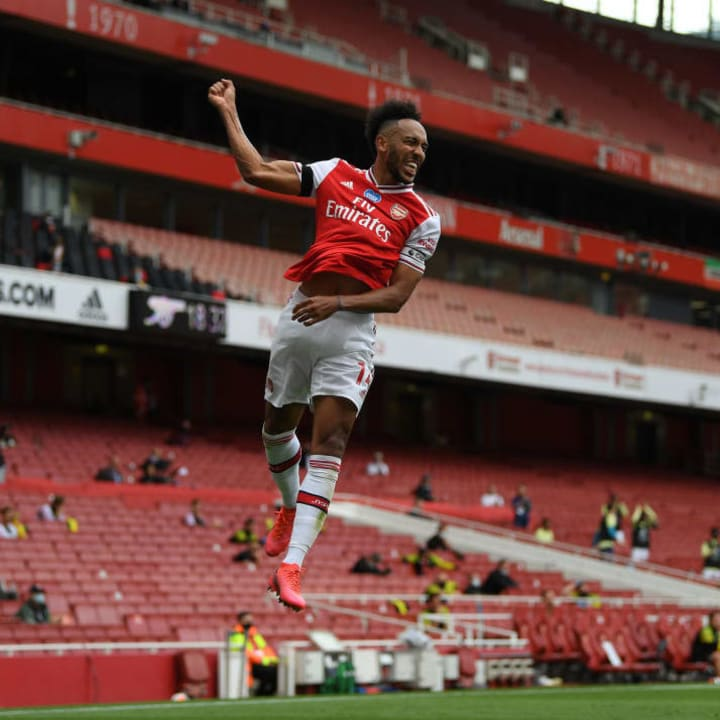 Aubameyang scored twice in the 4-1 win over Norwich