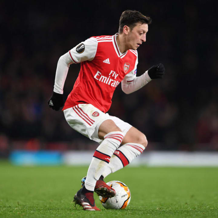 Ozil hasn't played for Arsenal since March 2020