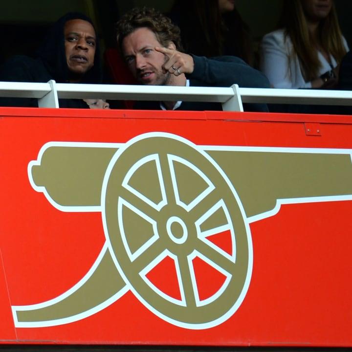 Jay-Z, Chris Martin, Arsenal