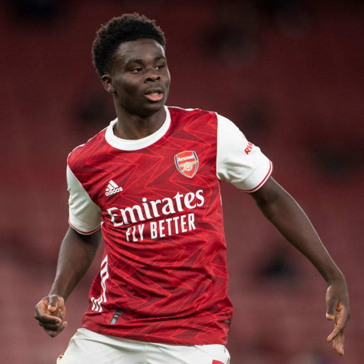 Saka may still have to play as a left-back in the future