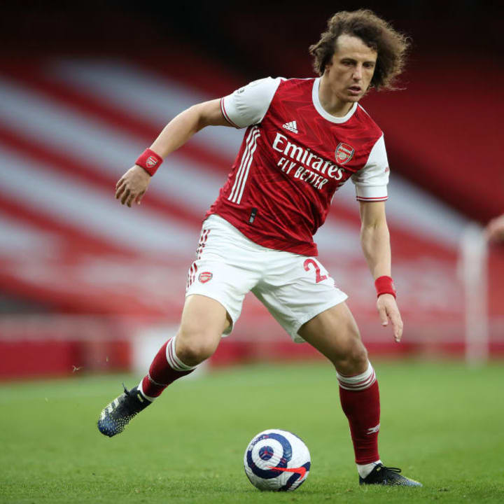 David Luiz started in the centre of the Arsenal defence against Tottenham Hotspur