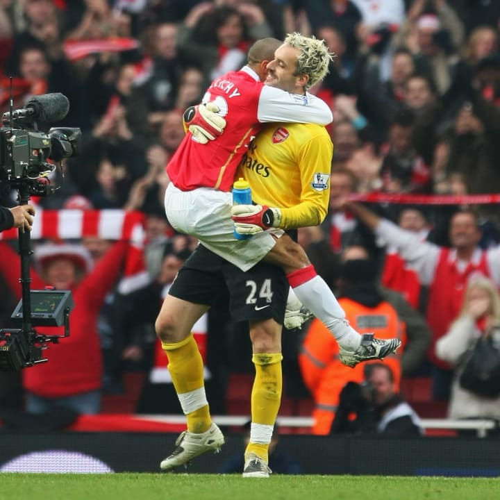 Saving a penalty is a great reason for a hug