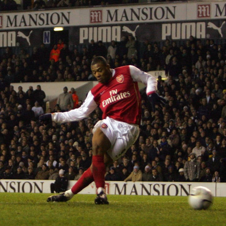Arsenal's Julio Bapista scores his secon