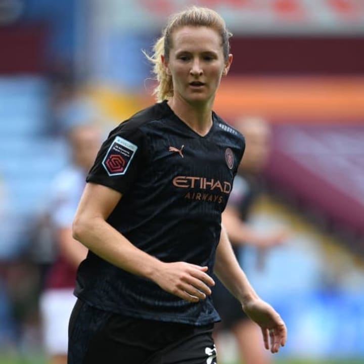 Man City have signed USWNT midfielders Sam Mewis (pictured) & Rose Lavelle