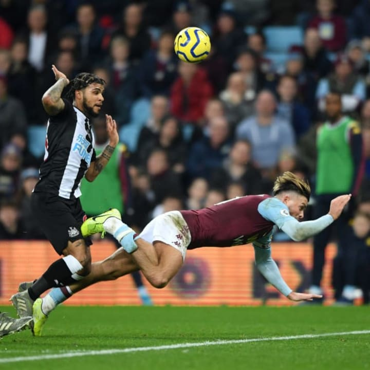 Grealish caused DeAndre Yedlin some real problems against Newcastle