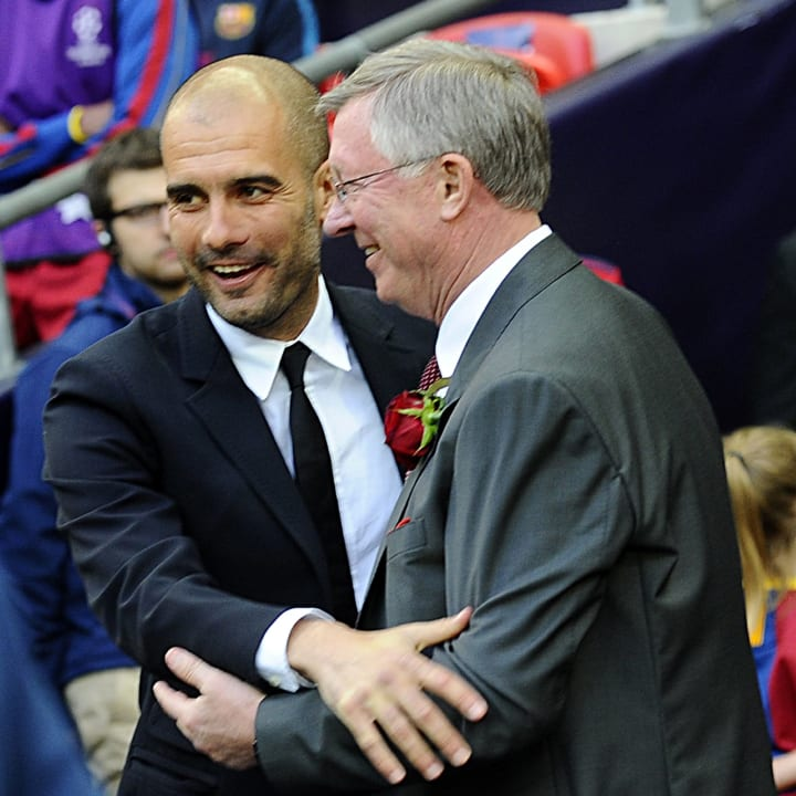 Pep Guardiola, Sir Alex Ferguson