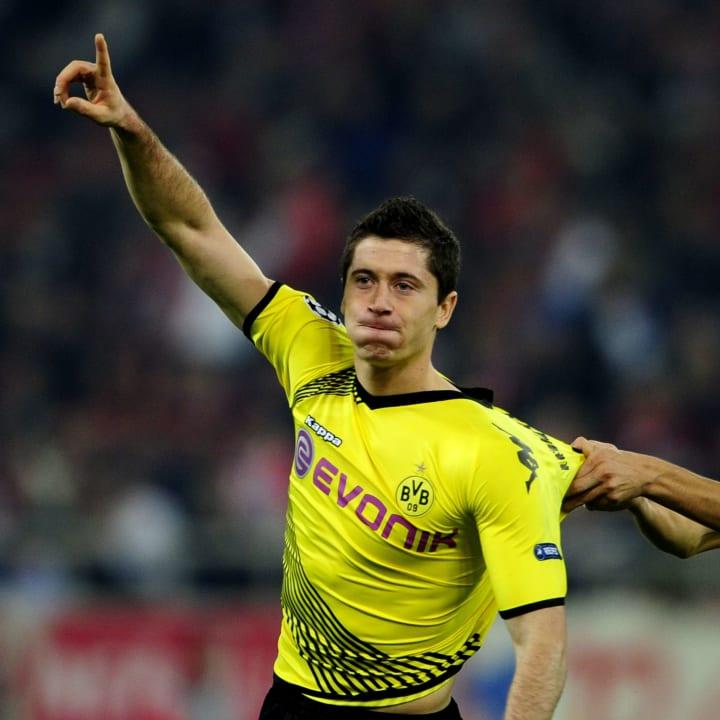 Borussia Dortmund's Robert Lewandowski c