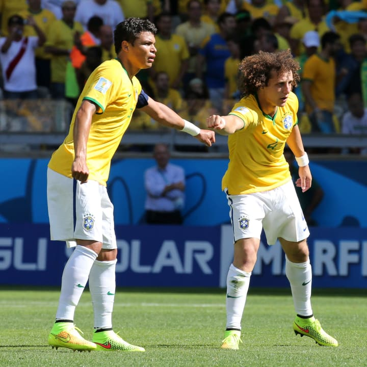 David Luiz and Thiago Silva have played together for PSG and Brazil
