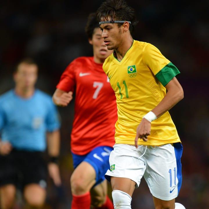 Neymar Brasil Semifinal Jogos Olímpicos 2012