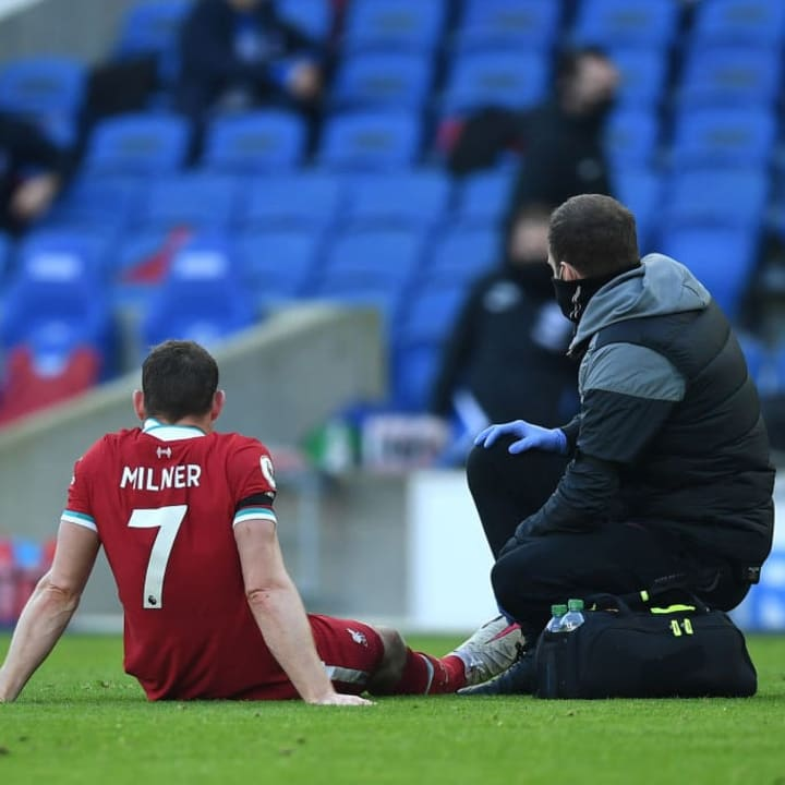 Milner is edging closer to a return from the injury he suffered away at Brighton