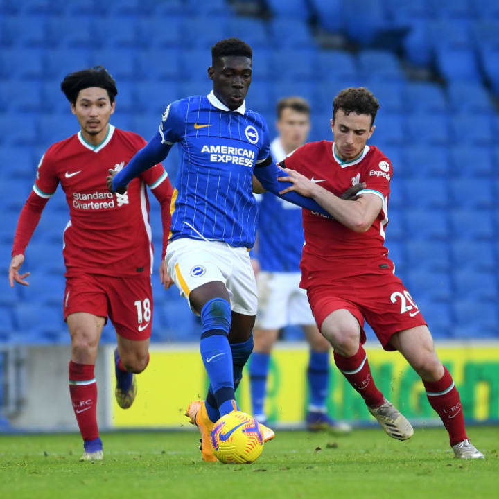 Yves Bissouma could be on his way to Anfield