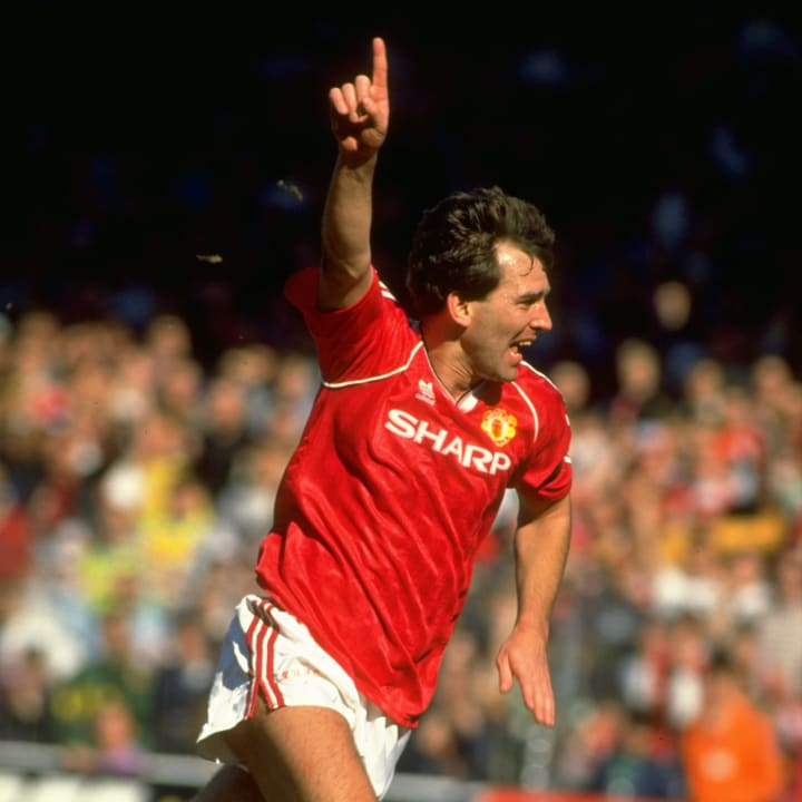 Bryan Robson of Manchester United