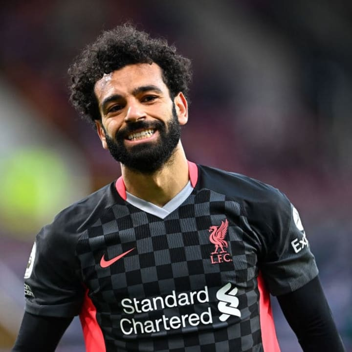 Mohamed Salah started on the Liverpool right