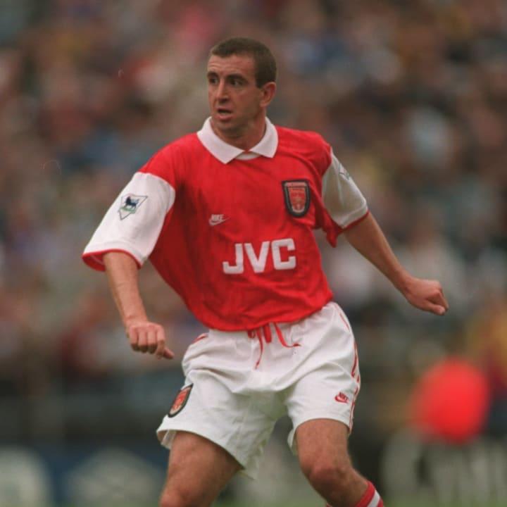 Nigel Winterburn in action for Arsenal
