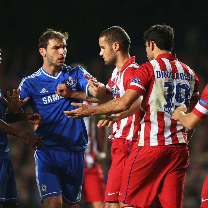 Diego Costa was typically fiery at Stamford Bridge