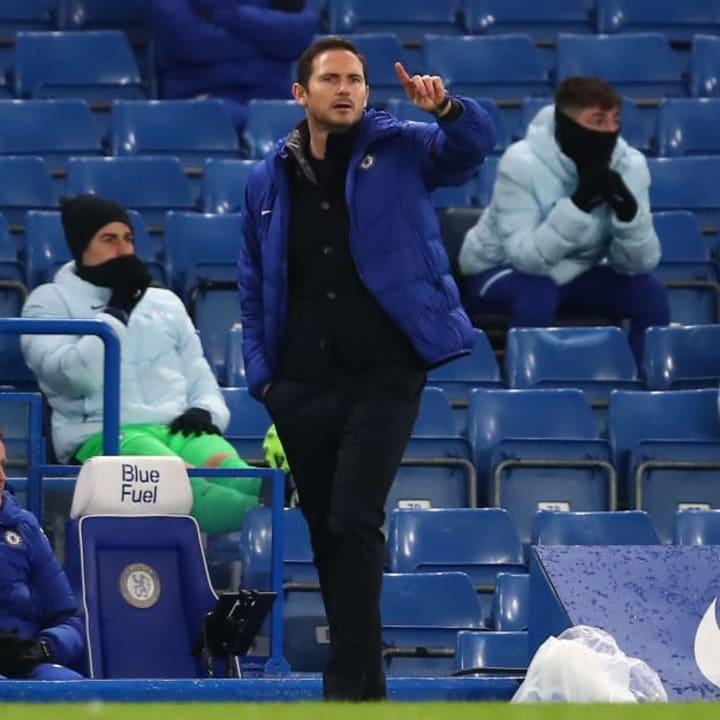 Frank Lampard is under pressure at Chelsea
