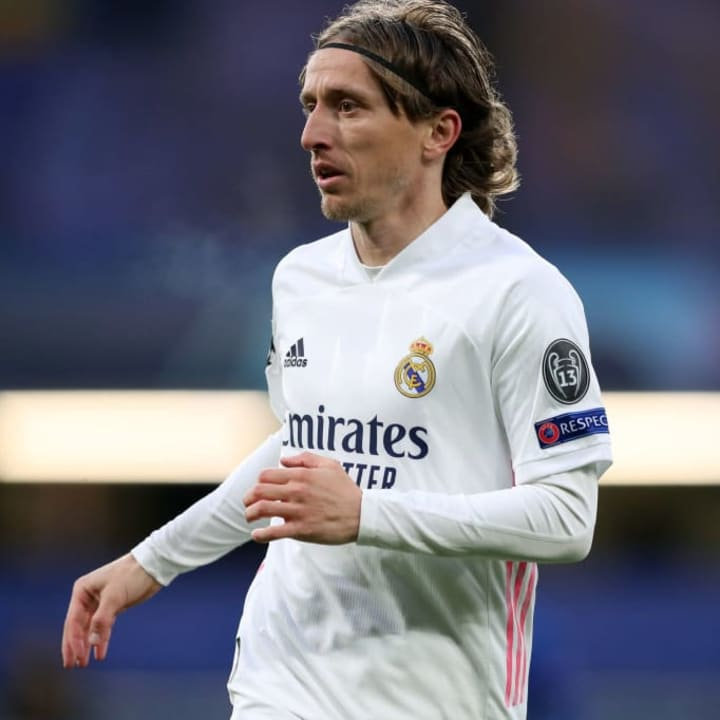 Luka Modric started in midfield for Real