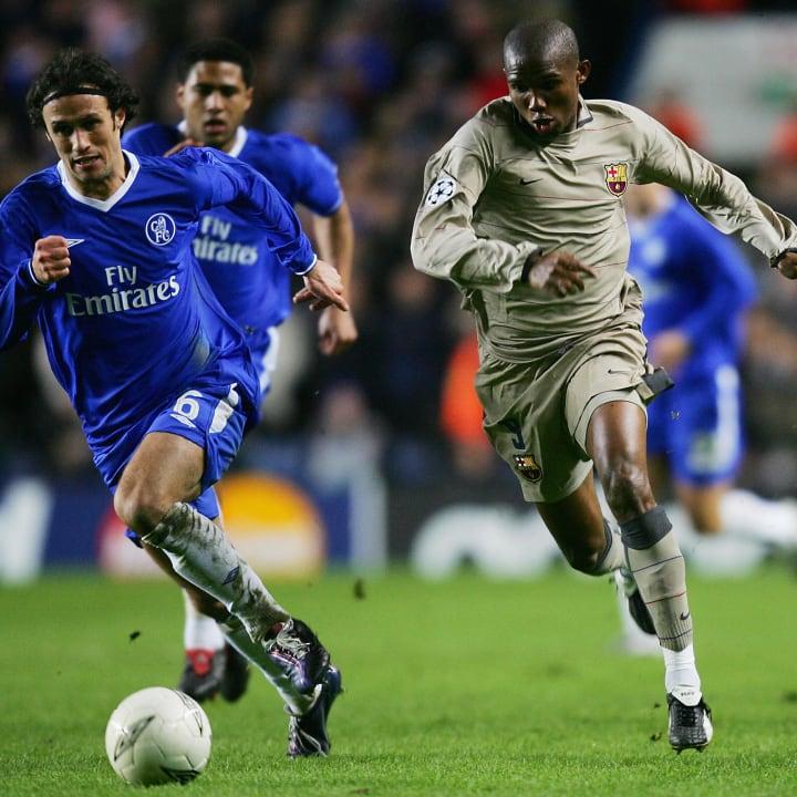 Chelsea's Ricardo Carvalho (L) and Barce