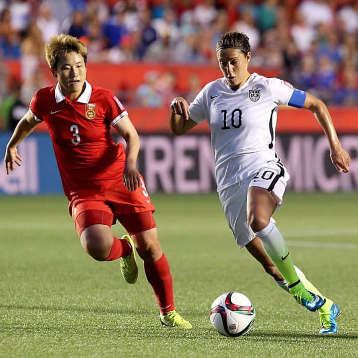 Lloyd scored USWNT's winner against China on her 200th appearance
