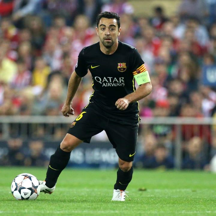 Xavi made history at Barcelona