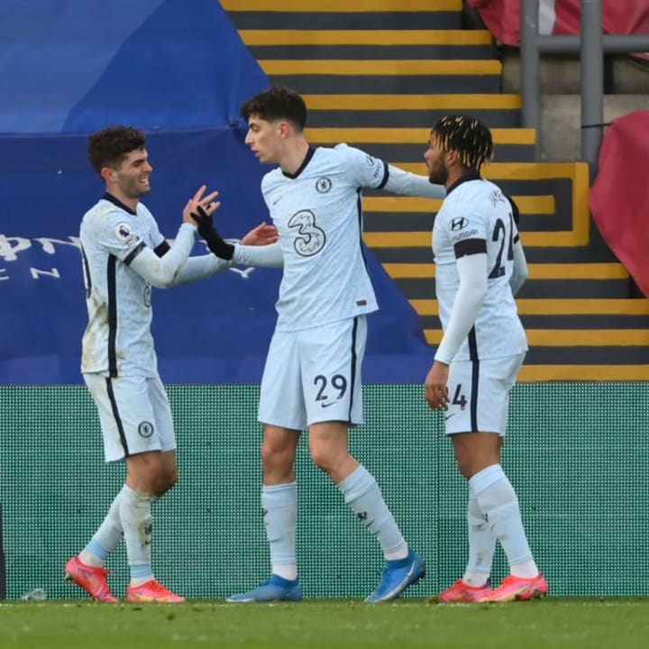 Christian Pulisic, Kai Havertz, Reece James