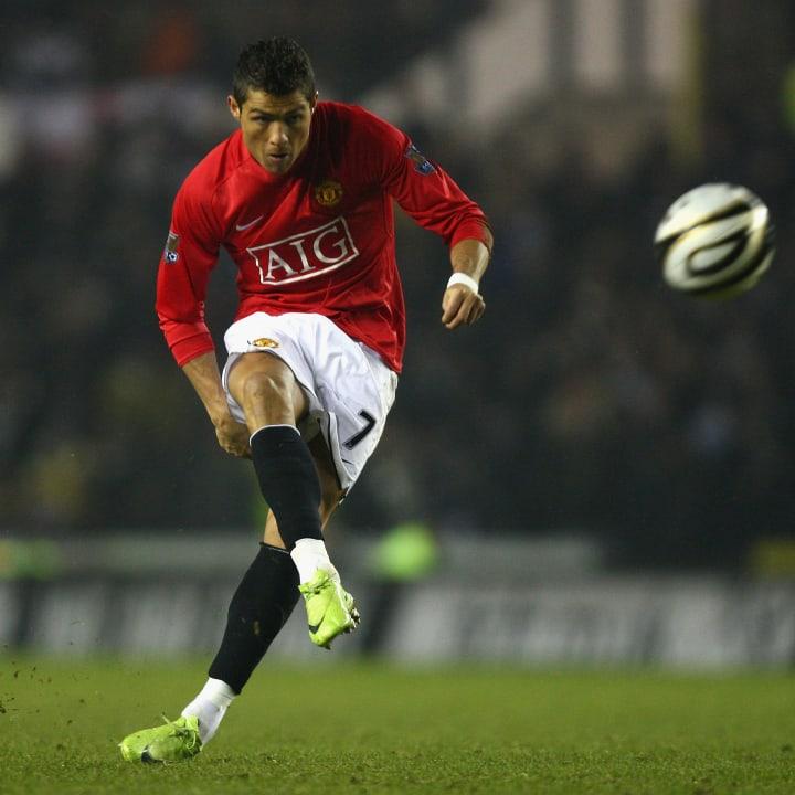 Cristiano Ronaldo strikes a free-kick