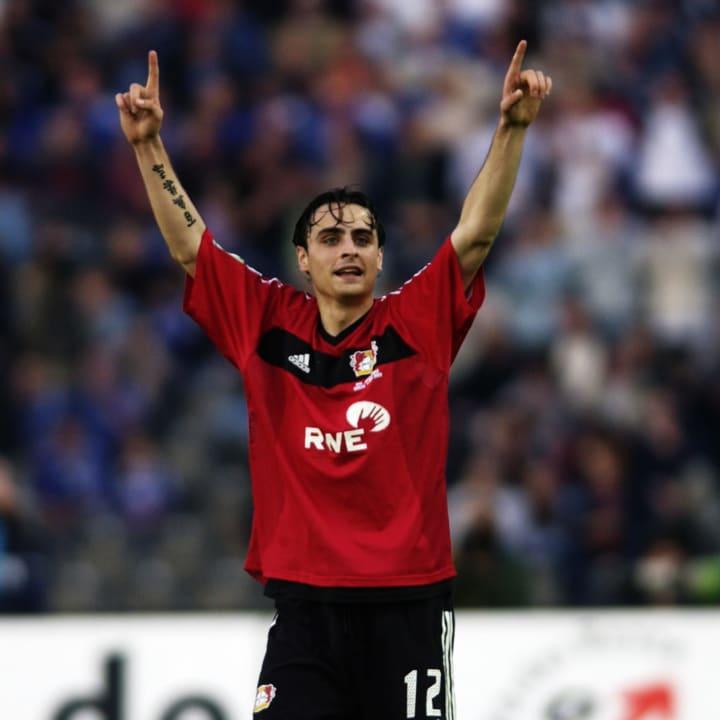 Dimitar Berbatov of Bayer Leverkusen