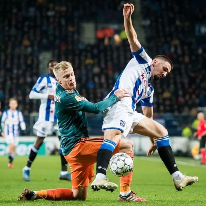 Van de Beek's defensive work often goes largely unnoticed.