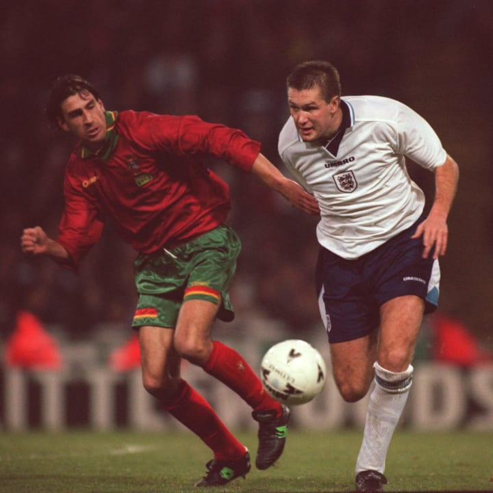 Steve Howey representing England in the mid 90s