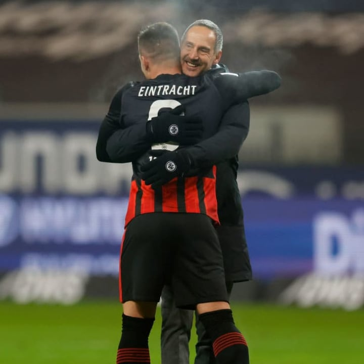 Dank Luka Jovic kann Trainer Adi Hütter noch häufiger lächeln