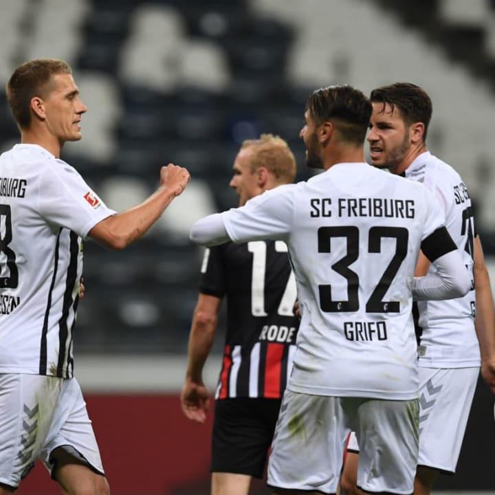 Grifo spielte in Frankfurt stark
