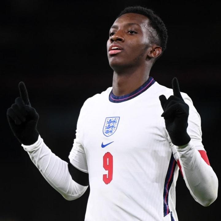 Eddie Nketiah is England's all-time leading Under-21 goalscorer