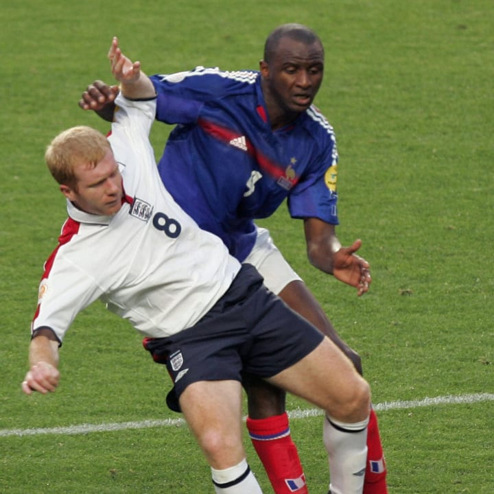 Vieira and Scholes battle on international duty