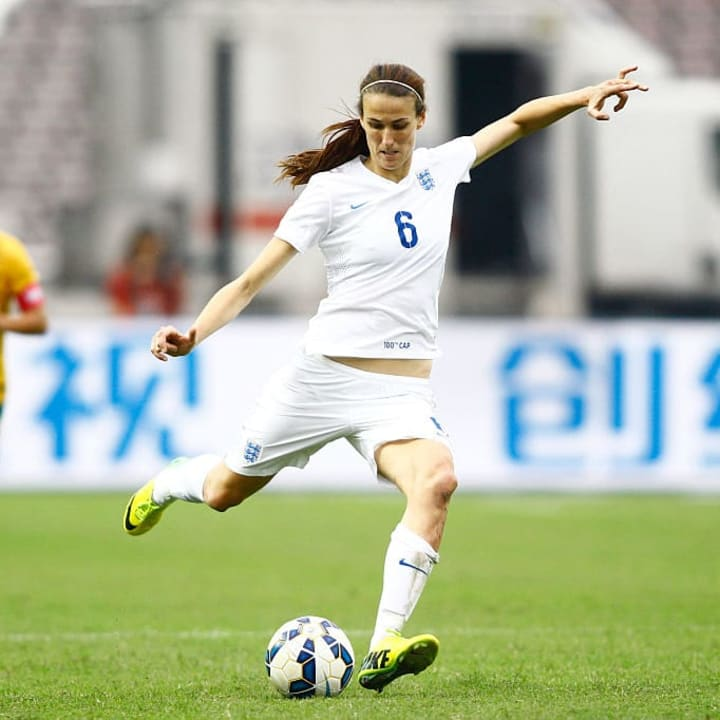 Scott made her 100th England appearance in 2015