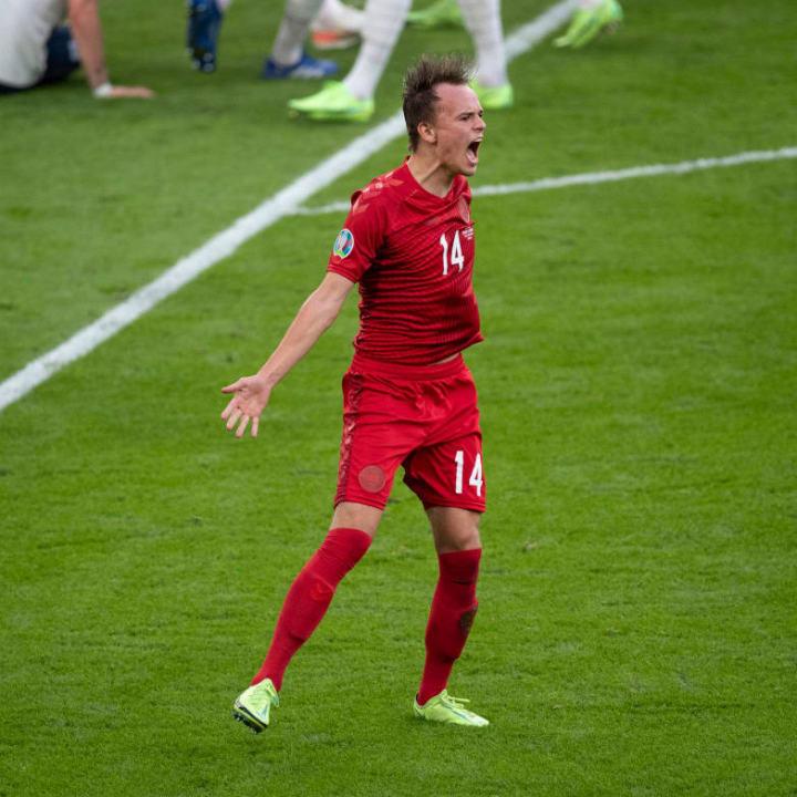 Mikkel Damsgaard fired his side ahead against England