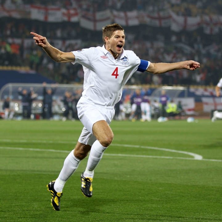 Steven Gerrard scored three times for England at World Cups