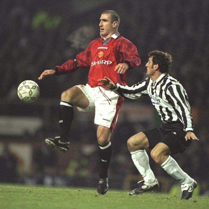 Eric Cantona of United...