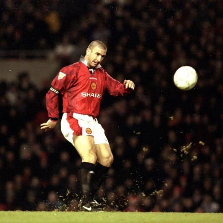 Eric Cantona scores Manchester United v Sunderland 1996